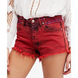 NWT Free People Sun Break Embroidered Shorts - 25